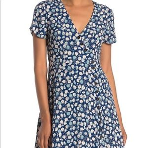Madewell wrap button up floral dress.